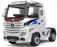 Электромобиль RiverToys Mercedes-Benz Actros HL358 белый