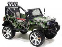 Электромобиль RiverToys Jeep T008TT (4х4) камуфляж