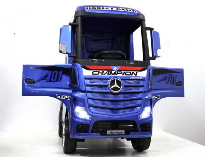 Электромобиль RiverToys Mercedes-Benz Actros HL358 синий глянец