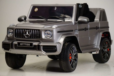 Электромобиль RiverToys Mercedes-Benz G63 O777OO серый глянец