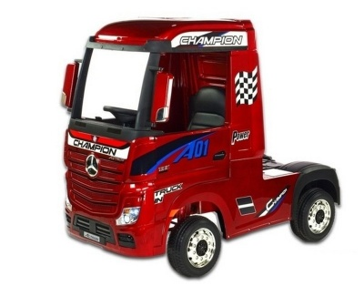 Электромобиль RiverToys Mercedes-Benz Actros HL358 вишневый глянец