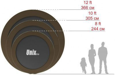 Батут UNIX line 12 ft Black&Brown (outside)